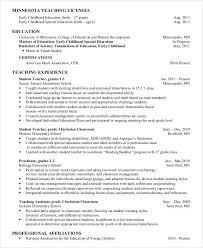 Resume For Montessori Teacher Preschool Teacher Resume 9 Free Word Pdf Documents Download