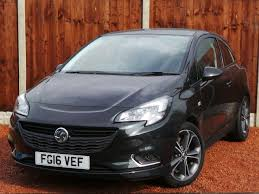 opel corsa 2016 2016 16 vauxhall corsa 1 4 16v 150ps black edition 3dr in black