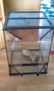 exo terra 18x18x24 tall reptile tank and decoration for sale in