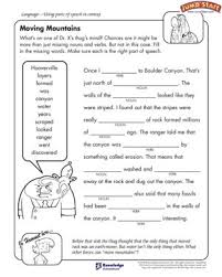 moving mountains u2013 english worksheets on parts of speech u2013 jumpstart