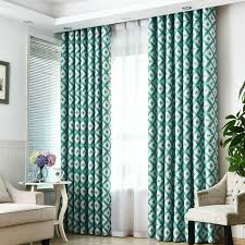 Pattern Drapes Curtains Urijk 1 Green Block Pattern Cloth Curtain High