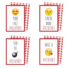 printable emoji valentines cards kateogroup
