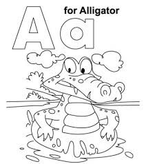 coloring pages letter a alphabet for kids presch educations
