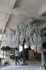 large white wedding wishing tree at indoor decor blossom tree