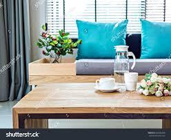 modern interior living room coffee table stock photo 266396990
