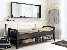 storage ottoman tray top entryway bench with leather shoes vacuum