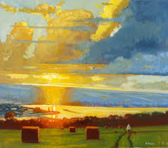 paintings to paint add a glow to your landscape canvas painting the golden hour