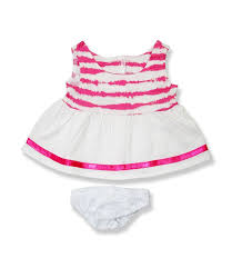 teddy clothes pink white dress knickers teddy clothes to fit