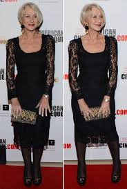 dame helen mirren wears black lace dress next to husband taylor