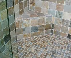 Slate Tile Bathroom Shower Mosaic Slate Tile Floor In Bathroom Shower Floor Flooring Ideas