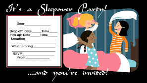 Mary Kay Party Invitation Templates Microsoft Word Slumber Party Invitation Template Ctsfashion In