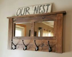 wood mirror coat hook etsy