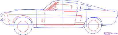 how to draw a ford mustang step by step cars draw cars online