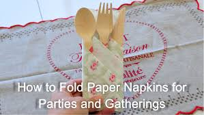 How To Set Silverware On Table How To Fold Paper Napkin For Parties And Gatherings Youtube