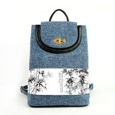 rucksack design canvas style rucksack bamboo pattern printing