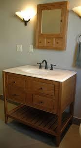 Mission Style Bathroom Vanity by White Oak Bathroom Vanities