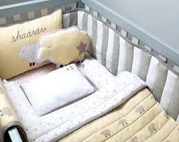 Beige Crib Bedding Set Modern Panda Organic Cot Bedding Set