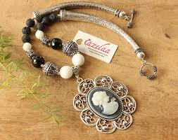 bead jewelry necklace designs images Vintage style pendant necklace designer beaded jewellery at jpg