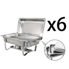 chafing dish set of 6 8 quart stainless steel full size tray