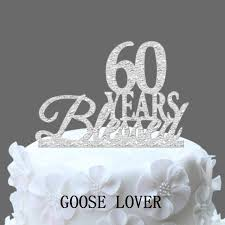 60th birthday anniversary cake topper personalized 60 years