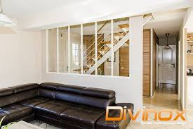 escalier entre cuisine et salon verriere cuisine salon autre angle de vue