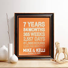 7 year anniversary gift personalized 7th copper anniversary gift for him or