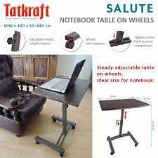 Adjustable Height Laptop Desk by Tatkraft Salute High Quality Mobile Laptop Desk Adjustable Height