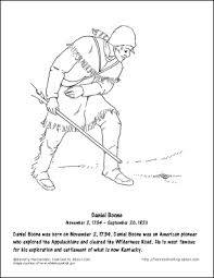 daniel boone coloring page funycoloring