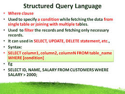 Delete Data From Table Structured Query Language Ppt Download
