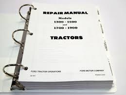 ford 1300 1500 1700 1900 tractor service manual repair shop book w