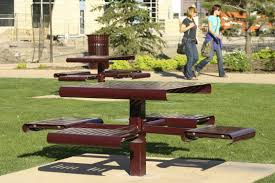 Recycled Plastic Outdoor Furniture Contemporary Picnic Table Steel Recycled Plastic Ipe