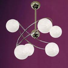 Chrome Flush Mount Ceiling Light by Brizzo Lighting Stores 22