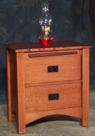 custom made 2 drawer quartersawn oak mission style night stand by