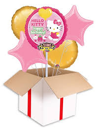 kitty singing birthday balloon delivered inflated uk