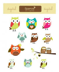 owl parade design elements owls by sparrowgraphic on zibbet
