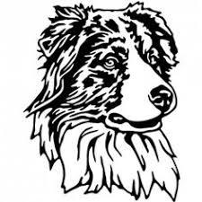 australian shepherd yard art australian shepherd logo google search everything dog