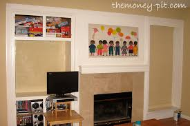 fireplace mantle and built ins reveal the kim six fix
