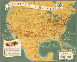 American Airline Route Map by American Airlines Aa North America Route Map David Rumsey