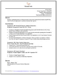 mba resume sample resume cv cover leter