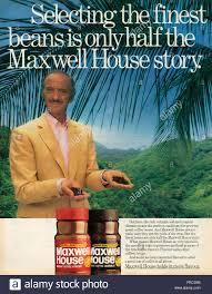 Housemagazine by 1980s Uk Maxwell House Magazine Advert Stock Photo Royalty Free