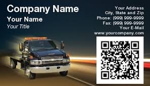 template at131612 qr code tow truck