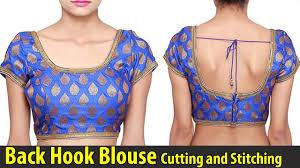 back hook back hook blouse cutting and stitching back open blouse back