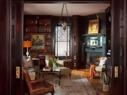 antique filled library inspires hgtv