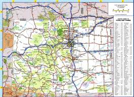 Colorado Maps by Large Detailed Roads And Highways Map Of Colorado State With All