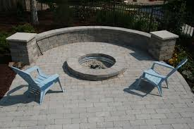 Block Firepit Seat Wall With Pit Modular Block Swimming Pool Services