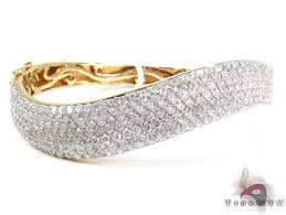 gold bracelet with diamonds images 14k gold diamond wave bangle bracelet 25422 jpg