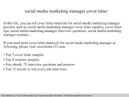 social media marketing manager cover letter