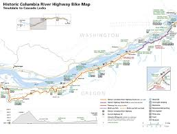 Highway Map Of Oregon by Biking In Cascade Locks