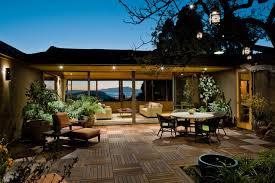 Patio Deck Cost by Trex Deck Cost Pool Midcentury With Concrete Garden Wall Concrete