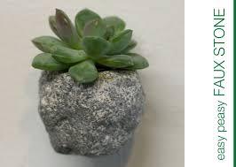 Faux Stone Planters by Mini Stone Magnet Planter Dm Color